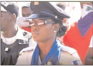 Policier maltraité